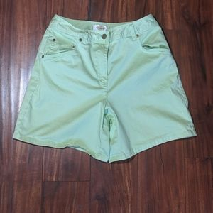 Talbots high rise lime green Short size 4